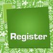 Register Business Symbols Texture Green Squares