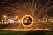 Night light steel wool art  - 230985430