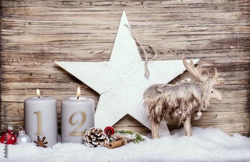 2.Advent Motiv elch Stern Holz