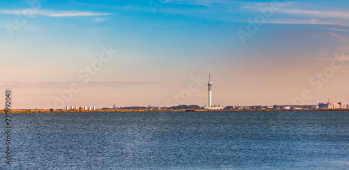 Leinwanddruck Bild Skyline of Lelystad