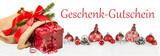 Geschenk-Gutschein Weihnachten Dekoration