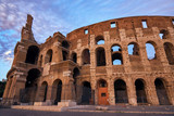 Colosseum gladiator arena famous ancient historical roman empire architecture landmark stone ruin amphitheater monument