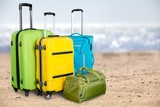 Large suitcases on background,travel concept - 231006055
