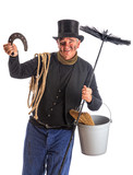 Isolated chimney sweep with horsehoe - 231014276