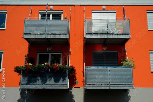 Leinwanddruck Bild Wohnsiedlung