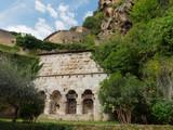 Cotignac dans le Var en Provence verte. Pressoirs du moulin à olives du Piquet