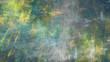 Leinwandbild Motiv Chaotic green and yellow brush strokes. Abstract grunge texture. Fractal background. 3d rendering.