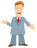 funny manager or businessman cartoon character - 231032646