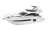 White Pleasure Yacht Isolated - 231033843