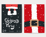 Christmas party invitation. Holidays cards. Vector hand drawn illustration. - 231062283