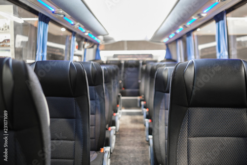 The image of the bus interior