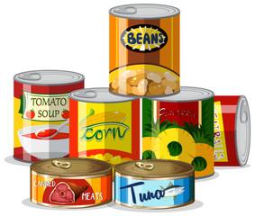 Set of canned food © blueringmedia