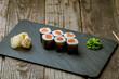 Maki roll with salmon