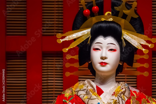 Life size dolls portray traditional Japanese stage performance at Edo Tokyo Museum © coward_lion