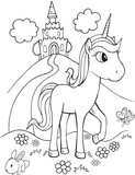 Cute Unicorn Vector Illustration Art © Erik DePrince