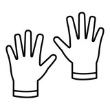 industrial rubber gloves icon - 231104493