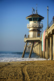 ocean pier with lifeguard tower - 231109099