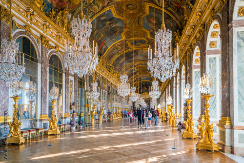 Leinwanddruck Bild The hall of mirrors in Palace of Versailles