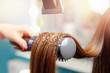 hair dryer, concept cut salon, female stylist.