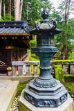 Stone lanterns in Taiyuin Temple in Nikko, Japan.
