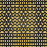 Geometric pattern with golden arrows. Geometric modern ornament. Seamless abstract background - 231120892