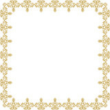 Classic square golden frame with arabesques and orient elements. Abstract ornament with place for text. Vintage pattern - 231121062