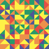 Geometric pattern with colorful triangles. Geometric modern ornament. Seamless abstract background - 231121450