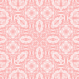Classic seamless pattern. Damask orient pink and white ornament. Classic vintage background - 231121498