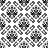 Classic seamless pattern. Damask orient ornament. Classic vintage black and white background - 231121675