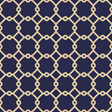 Seamless ornament in arabian style. Geometric abstract navy blue and golden background. Pattern for wallpapers and backgrounds - 231121803