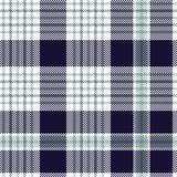 Nautical plaid pattern in dark indigo, greenish blue and white. Seamless fabric texture. - 231122026