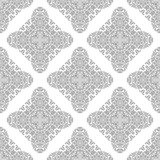 Orient classic silver pattern. Seamless abstract background with vintage elements. Orient background - 231122258