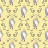 Unicorn Rainbow seamless pattern