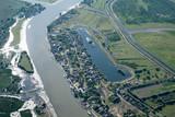 Aerial View Over Mila23 (Mile 23) Village, in the Danube Delta - 231162296