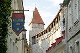 Medieval city wall and entrance to the St. Catherine's Passage, Tallinn, Estonia - 231168286
