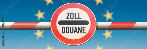 Leinwanddruck Bild EU & Zoll