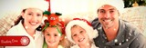 Composite image of portrait of a happy family with christmas - 231170638