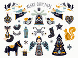 Christmas graphic elements collection in scandinavian style - 231173266