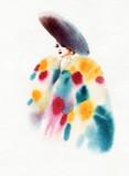 beautiful woman. fashion illustration. watercolor painting - 231173278