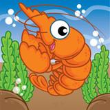 shrimp cartoon, cartoon cute, animal cute