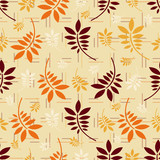 Seamless pattern with plant pattern from leaves. - 231178656