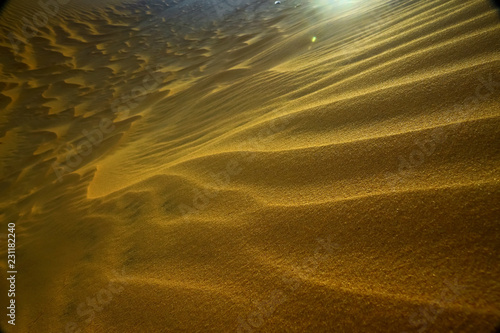 Sand mountains in the desert - 231182240