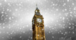 canvas print picture - Schneefall in London