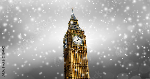 canvas print picture Schneefall in London