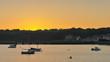 coucher de soleil sur la baie de Cancale