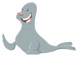 cartoon seal funny animal character - 231219079