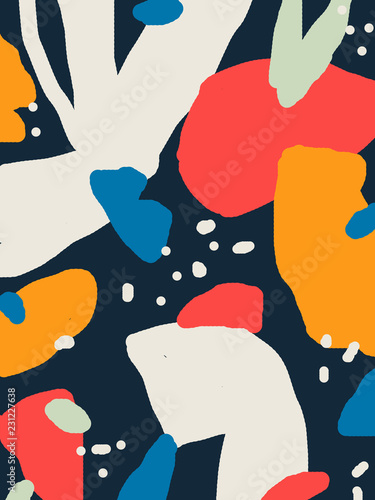 Abstract art bright messy background  - 231227638