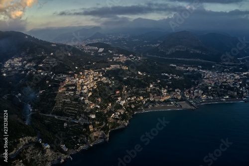 Vietri sul Mare and Salerno coastline