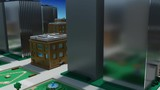 Infinite Seamless Dolly Loop through a small 3d stylized voxel style city - 231246238