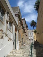rue en escalier à Lisbonne © soll